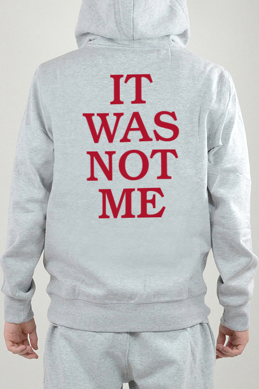 Hoodie Grau, It Was Not - 2413