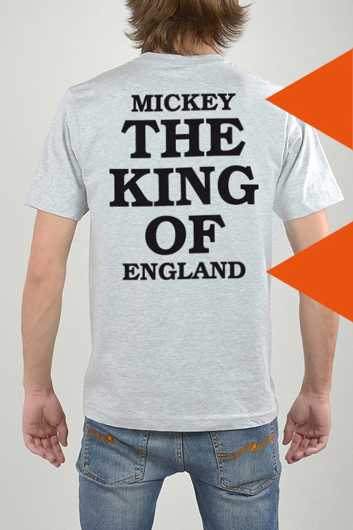 T-Shirt Grau, The King - 3208