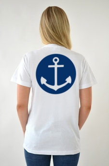 T-Shirt weiß, Anchor - 1649