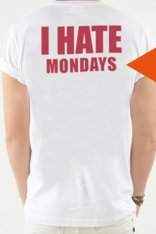 T-Shirt weiß, I HATE - 1754