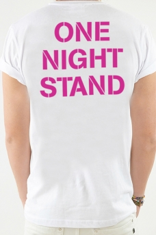 T-Shirt weiß, One Night - 1796