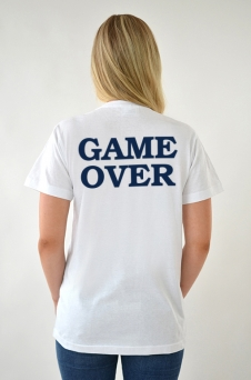 T-Shirt weiß, Game Over - 1954