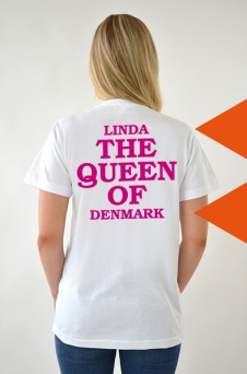 T-Shirt weiß, The Queen - 2035