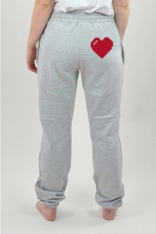 Sweatpants Grau, Heart - 3022