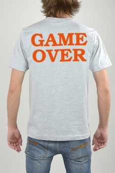 T-Shirt Grau, Game Over - 3157