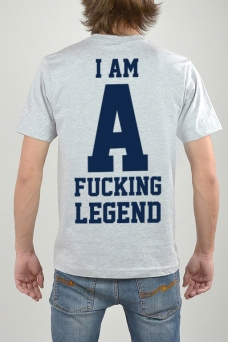 T-Shirt Grau, I Am - 3164