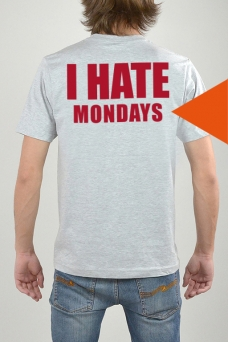 T-Shirt Grau, I Hate - 3222