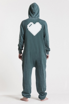 Burned Green, Heart, Jumpsuit - 4850