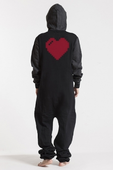 College Black, Heart, Jumpsuit - 4865