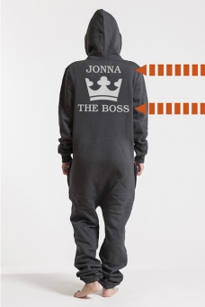 Comfy Dark Grey & Silver, The Boss, Jumpsuit - 5623